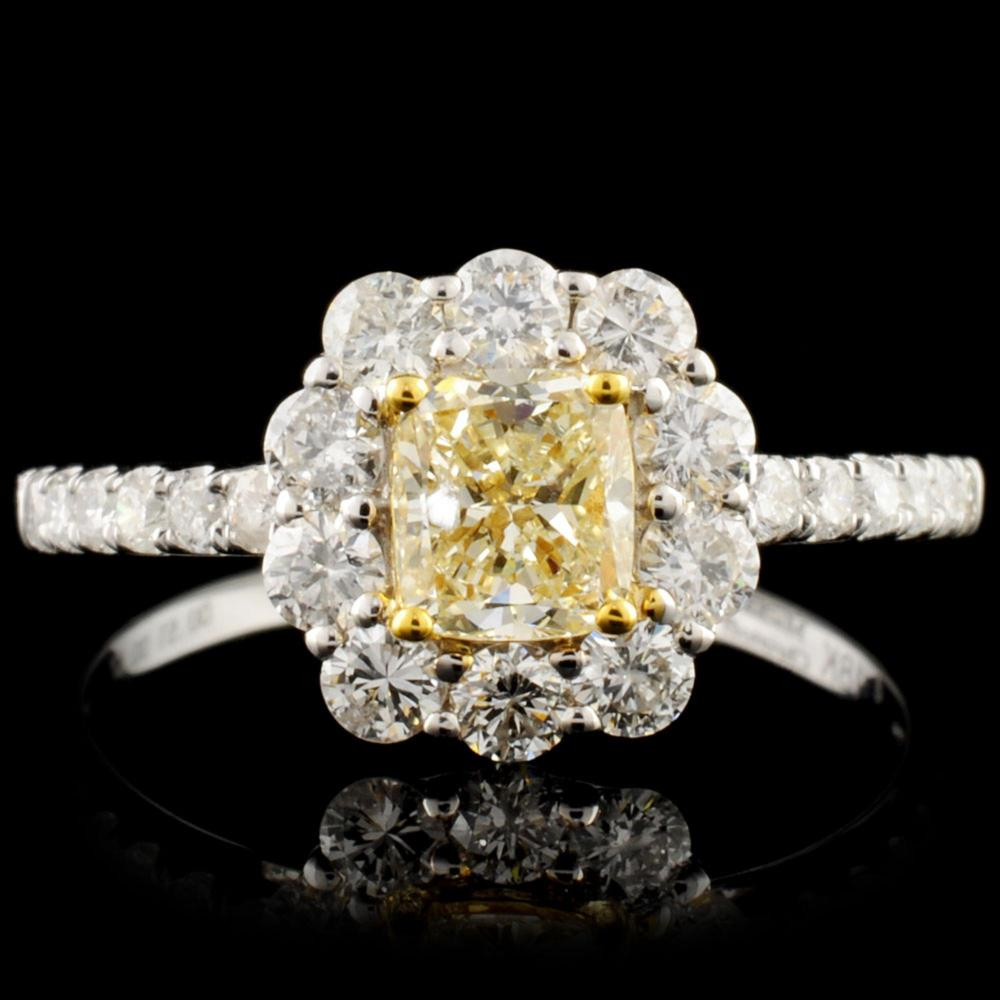 18K Gold 1.18ctw Fancy Diamond Ring