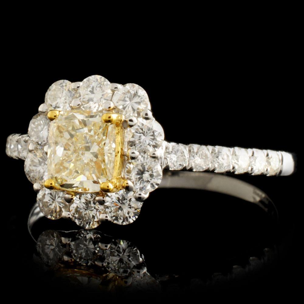 Lot 105: 18K Gold 1.18ctw Fancy Diamond Ring