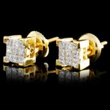 Lot 106: 18K Gold 0.50ctw Diamond Earrings