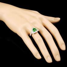 Lot 107: 18K Gold 1.93ct Tsavorite & 0.95ctw Diamond Ring