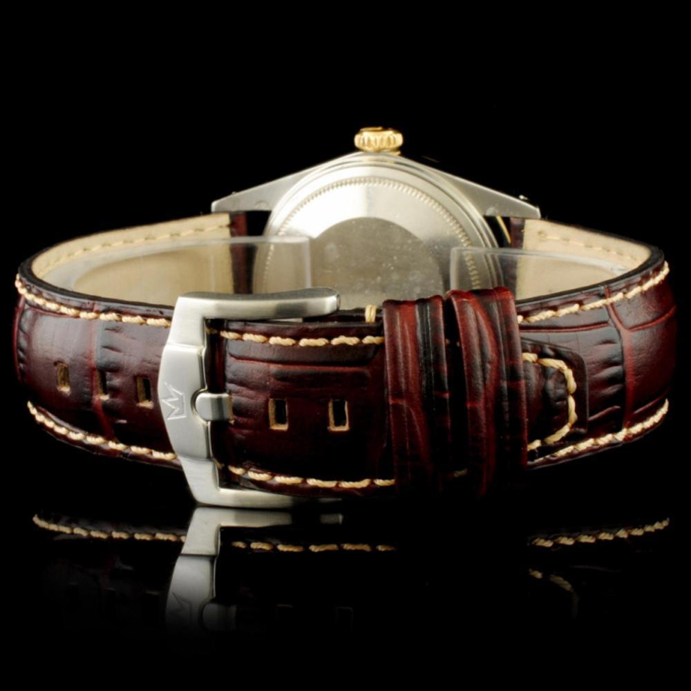 Lot 109: Rolex DateJust YG/SS Diamond Champagne 36MM Watch