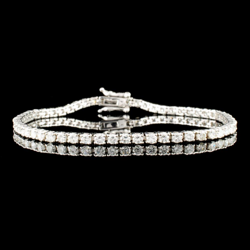 14K Gold 3.73ctw Diamond Bracelet