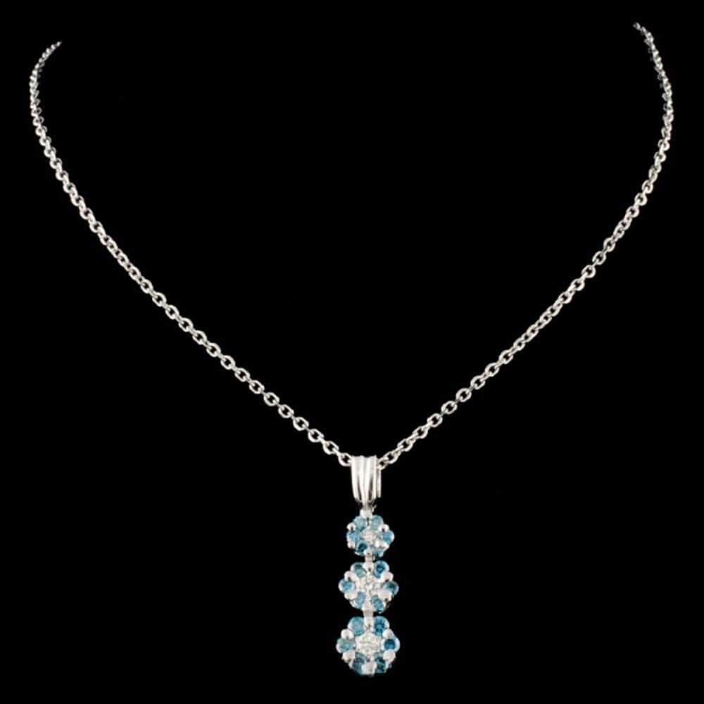 Lot 116: 18K Gold 0.50ctw Fancy Color Diamond Pendant