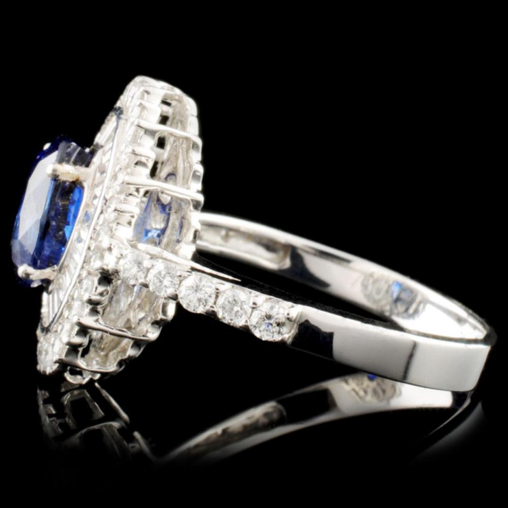 Lot 117: 18K Gold 1.97ct Sapphire & 0.78ctw Diamond Ring