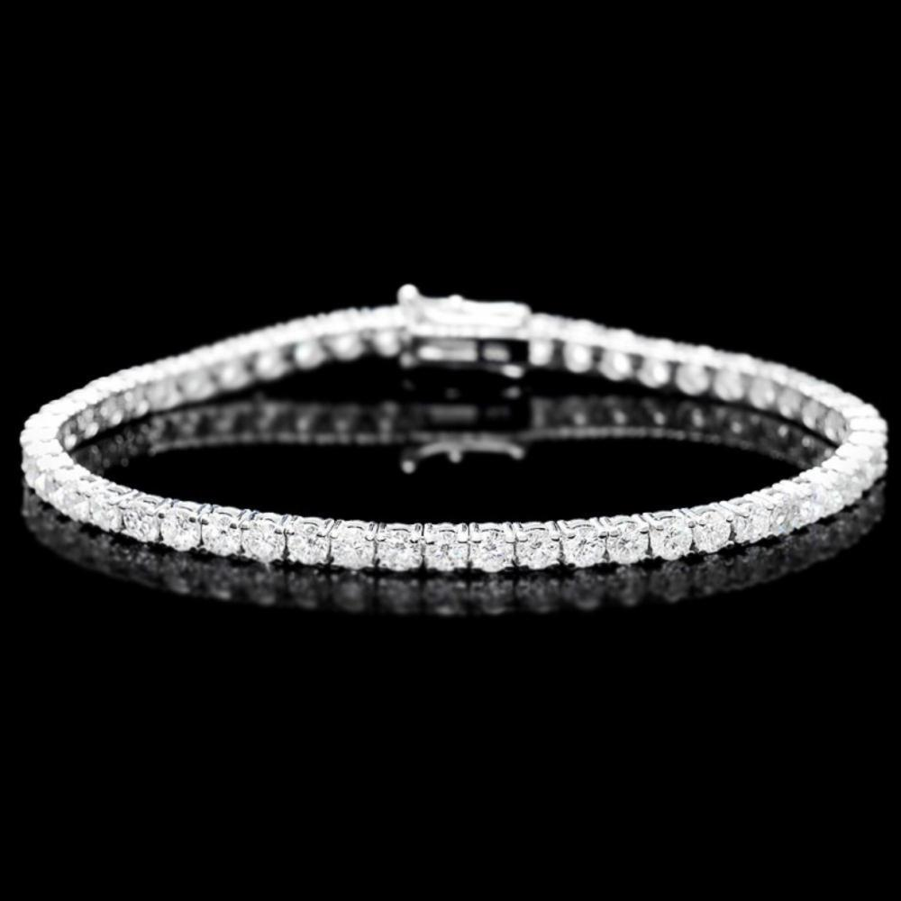 ^18k White Gold 7.00ct Diamond Bracelet