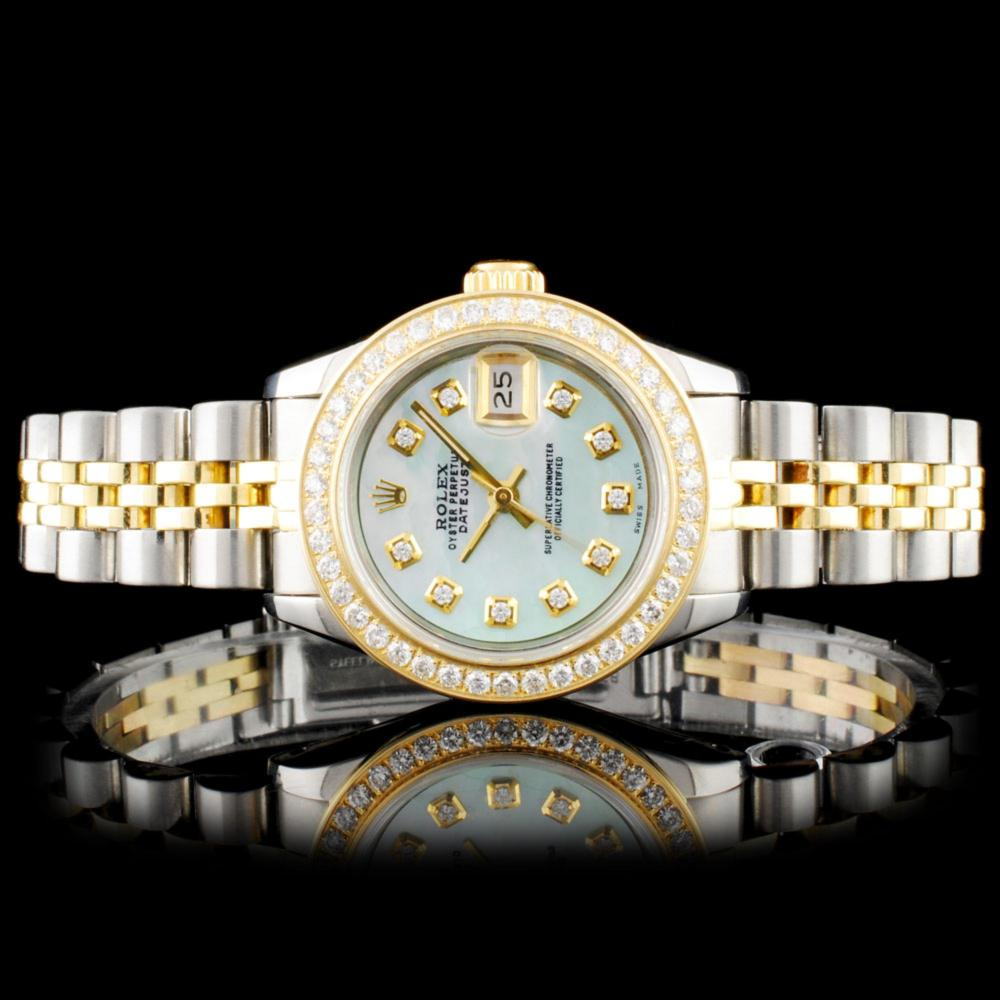 Rolex DateJust YG/SS Diamond Wristwatch