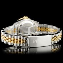 Lot 119: Rolex DateJust YG/SS Diamond Wristwatch