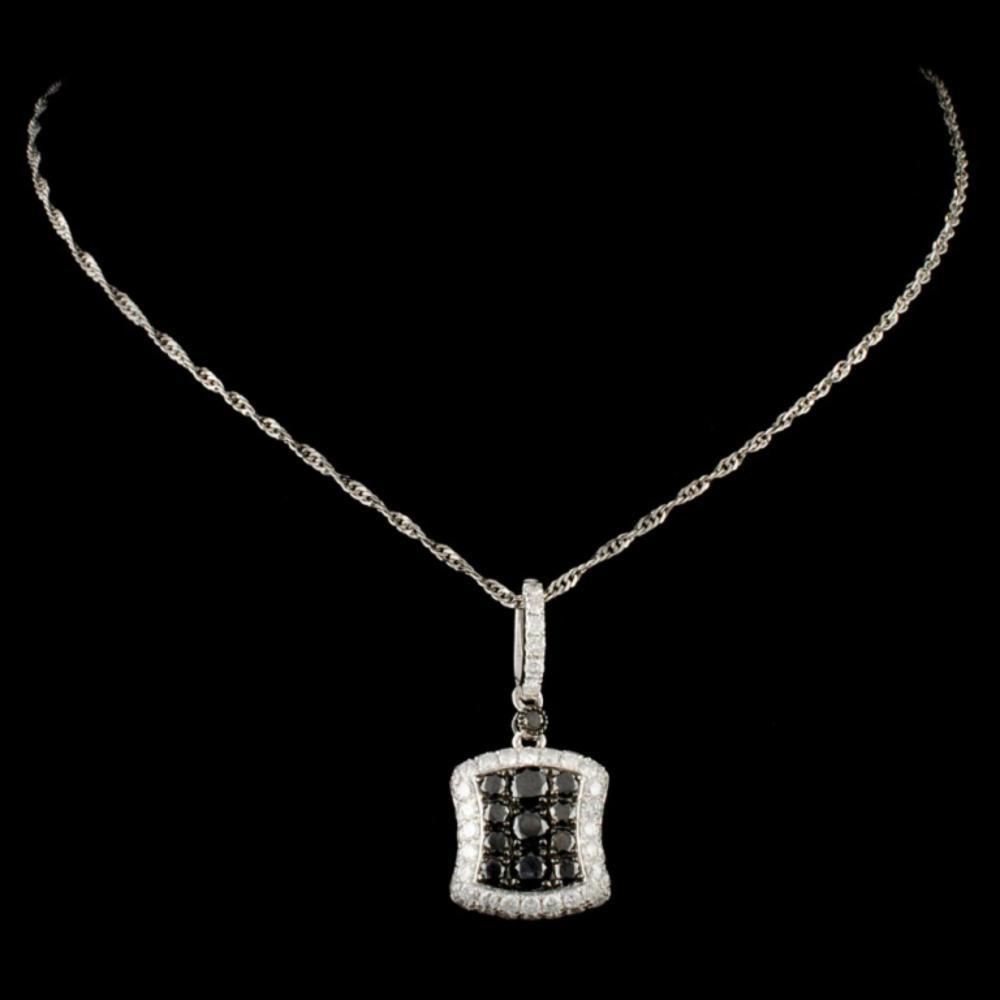 Lot 120: 14K Gold 1.12ctw Fancy Color Diamond Pendant