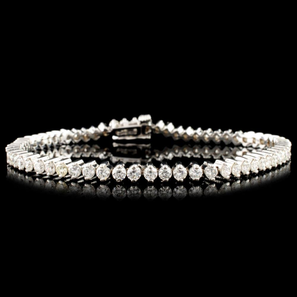 14K Gold 3.78ctw Diamond Bracelet