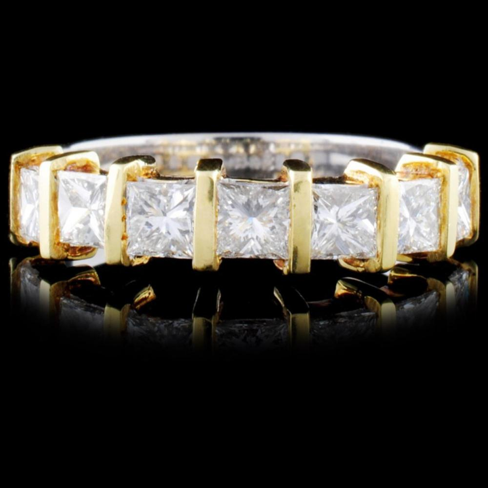 Lot 125: 18K Gold 1.20ctw Diamond Ring