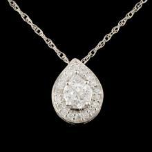 Lot 126: 18K Gold 0.53ctw Diamond Pendant