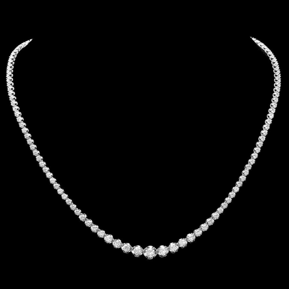 ^18k White Gold 7.00ct Diamond Necklace