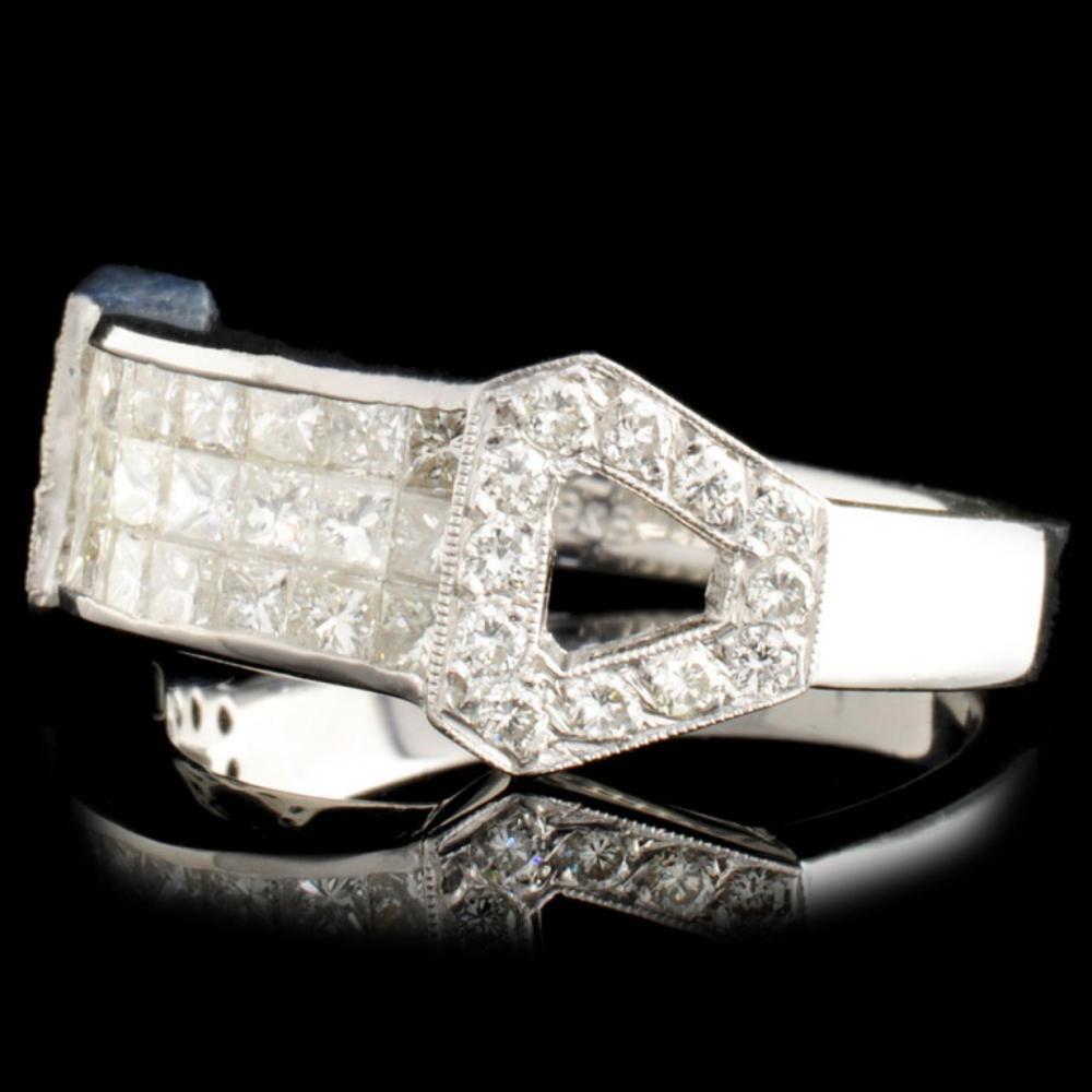 Lot 135: 18K Gold 1.20ctw Diamond Ring