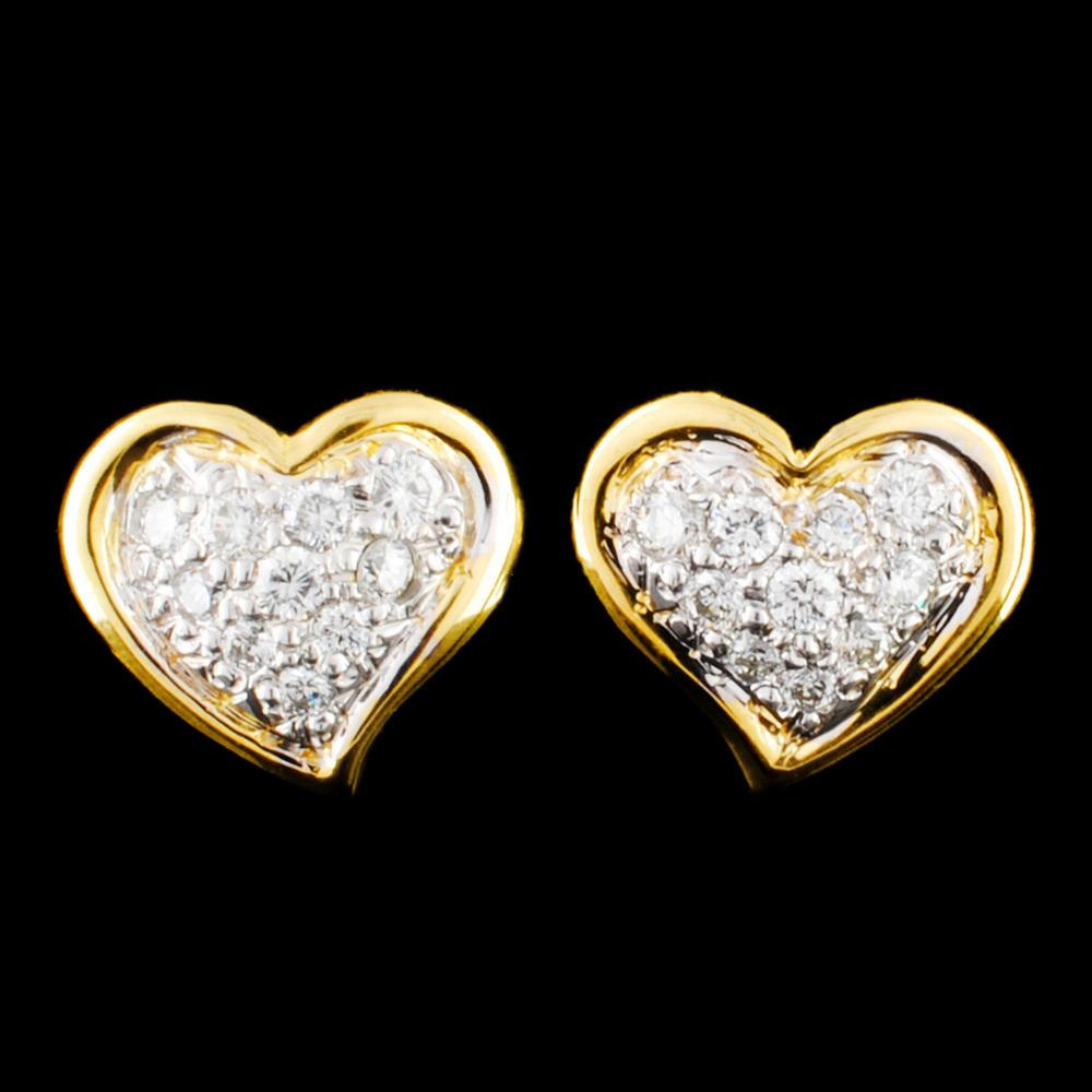 18K Gold 0.41ctw Diamond Earrings