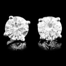 Lot 152: 14K Gold 1.06ctw Diamond Earrings