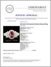 Lot 161: 18K Gold 1.59ct Spinel & 0.84ctw Diamond Ring