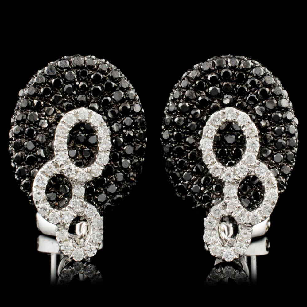 14K Gold 1.72ctw Diamond Earrings