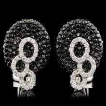 Lot 164: 14K Gold 1.72ctw Diamond Earrings