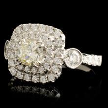 Lot 171: 18K Gold 1.60ctw Diamond Ring