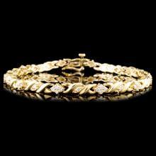 Lot 176: 14K Gold 1.00ctw Diamond Bracelet
