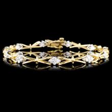 Lot 180: 14K Gold 1.00ctw Diamond Bracelet