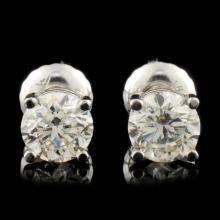 Lot 182: 14K Gold 1.00ctw Diamond Stud Earrings