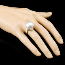 Lot 183: 18K Gold 15.00MM & 0.99ctw Diamond Ring