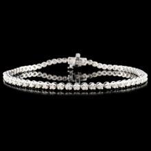 Lot 190: 14K Gold 1.00ctw Diamond Bracelet