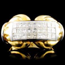 Lot 191: 18K Gold 1.29ctw Diamond Ring