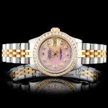 Lot 199: Rolex YG/SS DateJust Diamond Ladies Wristwa