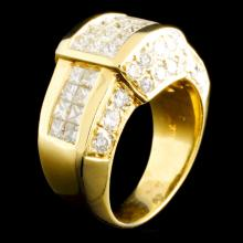 18K Gold 3.11ctw Diamond Ring