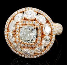 18K Rose Gold  3.49ctw Diamond Ring