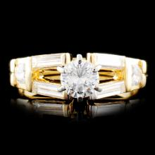 14K Gold 0.89ctw Diamond Ring