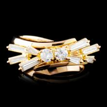 18K Gold 0.54ctw Diamond Ring