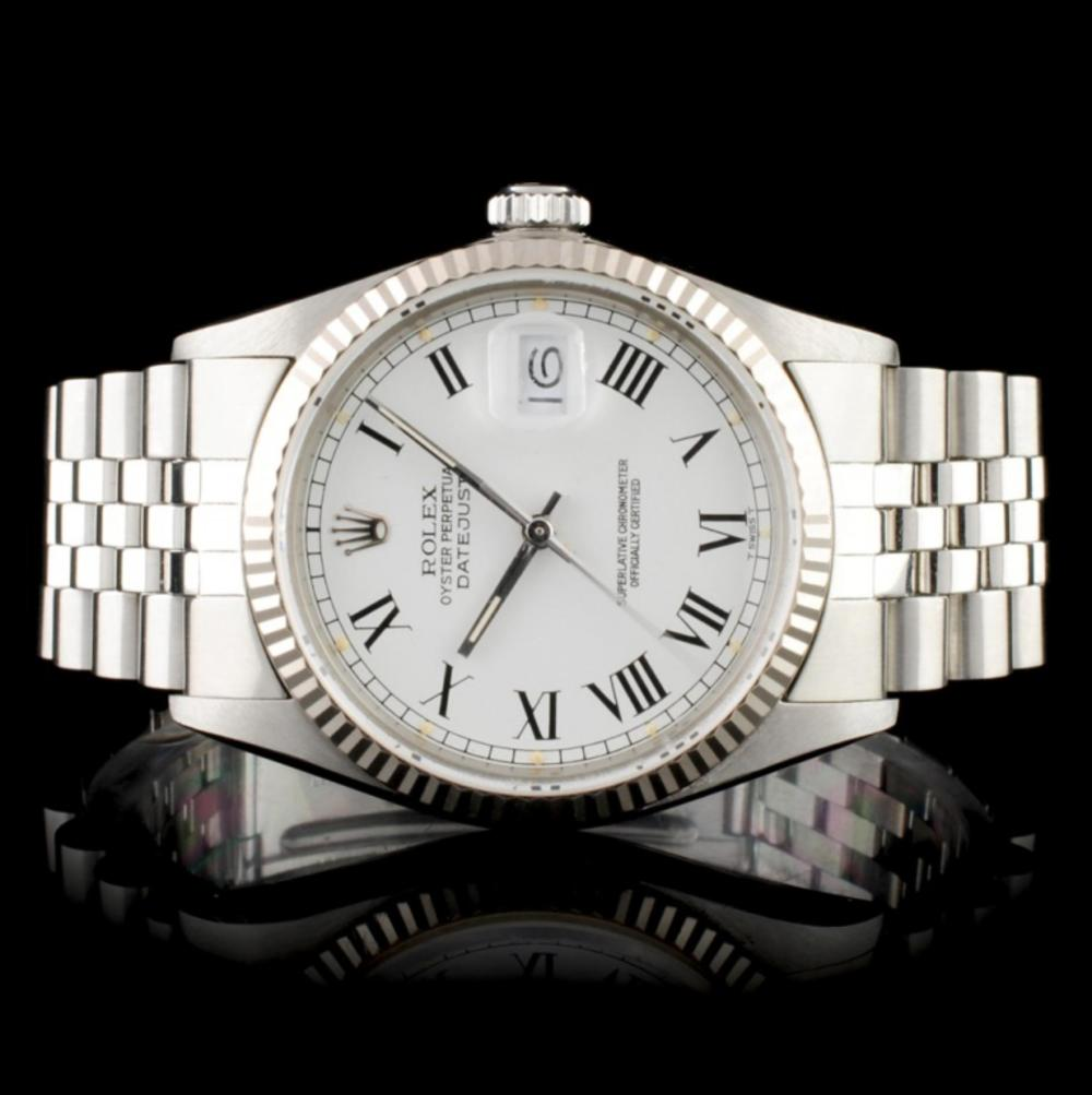 Rolex DateJust 18K & Stainless Steel Watch