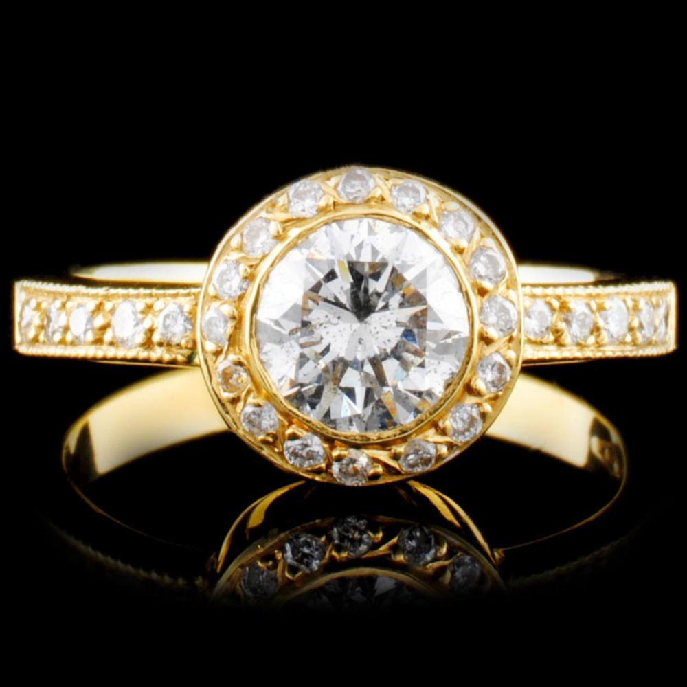 18K Gold 1.15ctw Diamond Ring