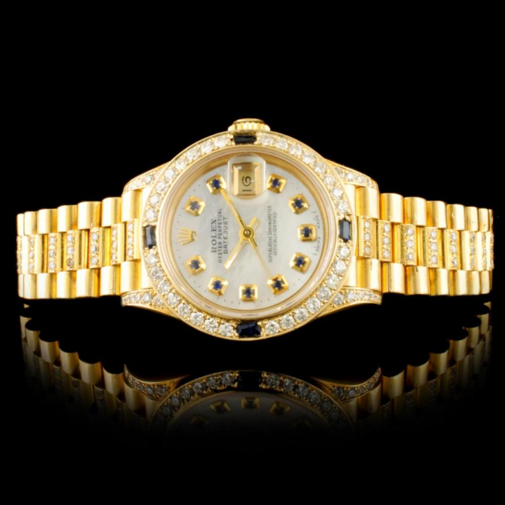 Rolex DateJust 18K YG 1.50ct Diamond Ladies Watch