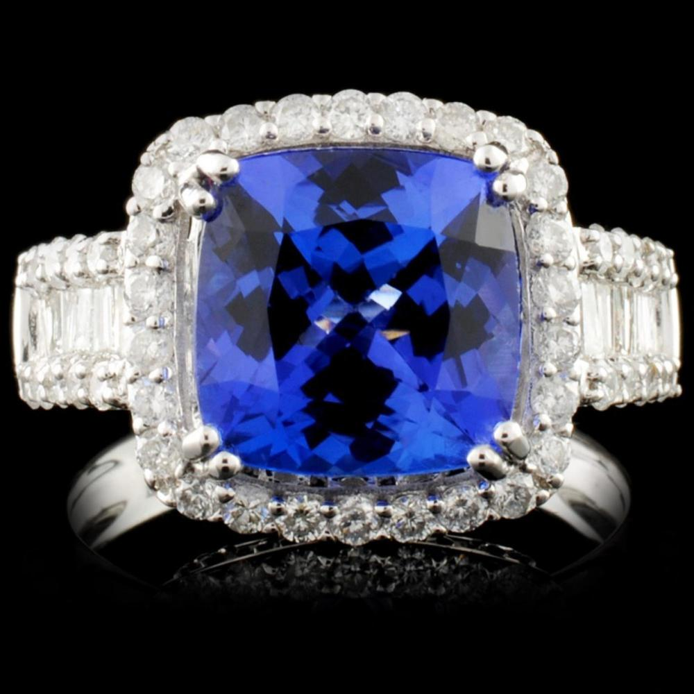 18K Gold 4.05ct Tanzanite & 1.05ct Diamond Ring