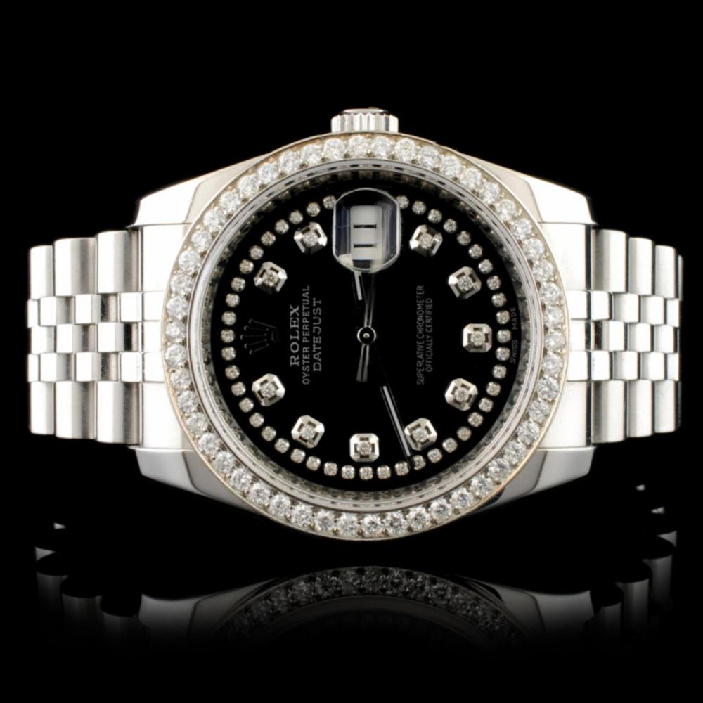 Rolex DateJust 116234 SS 1.35ct Diamond 36MM Watch