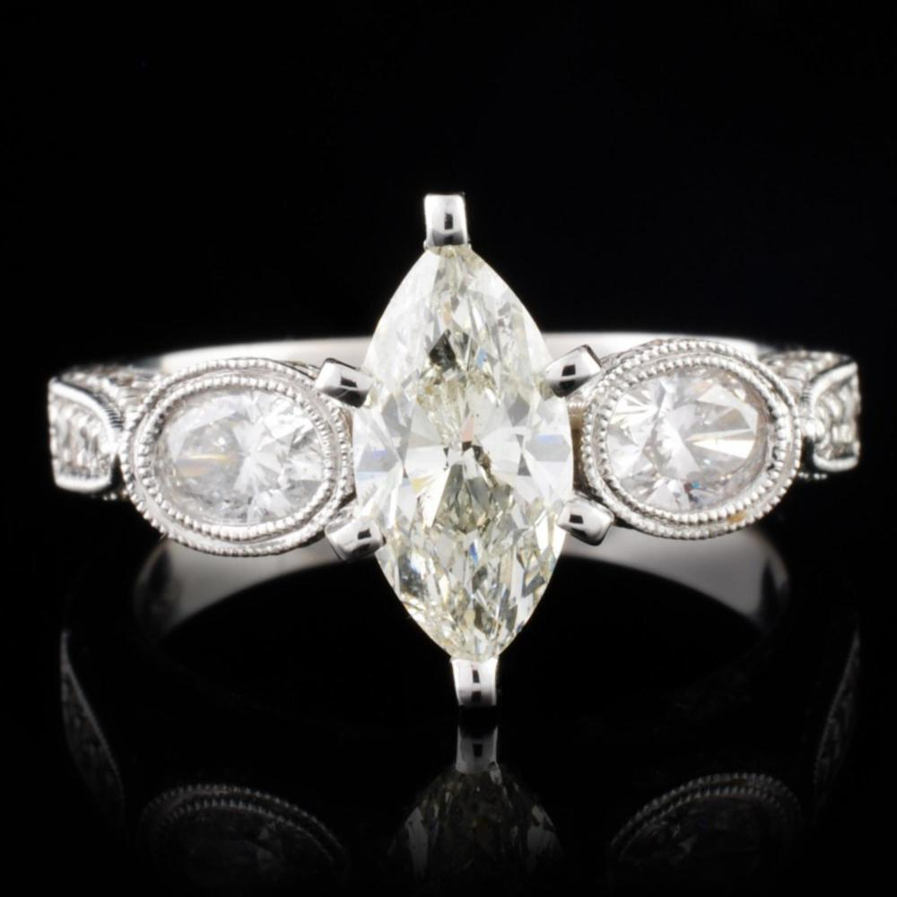 18K White Gold 2.22ctw Diamond Ring