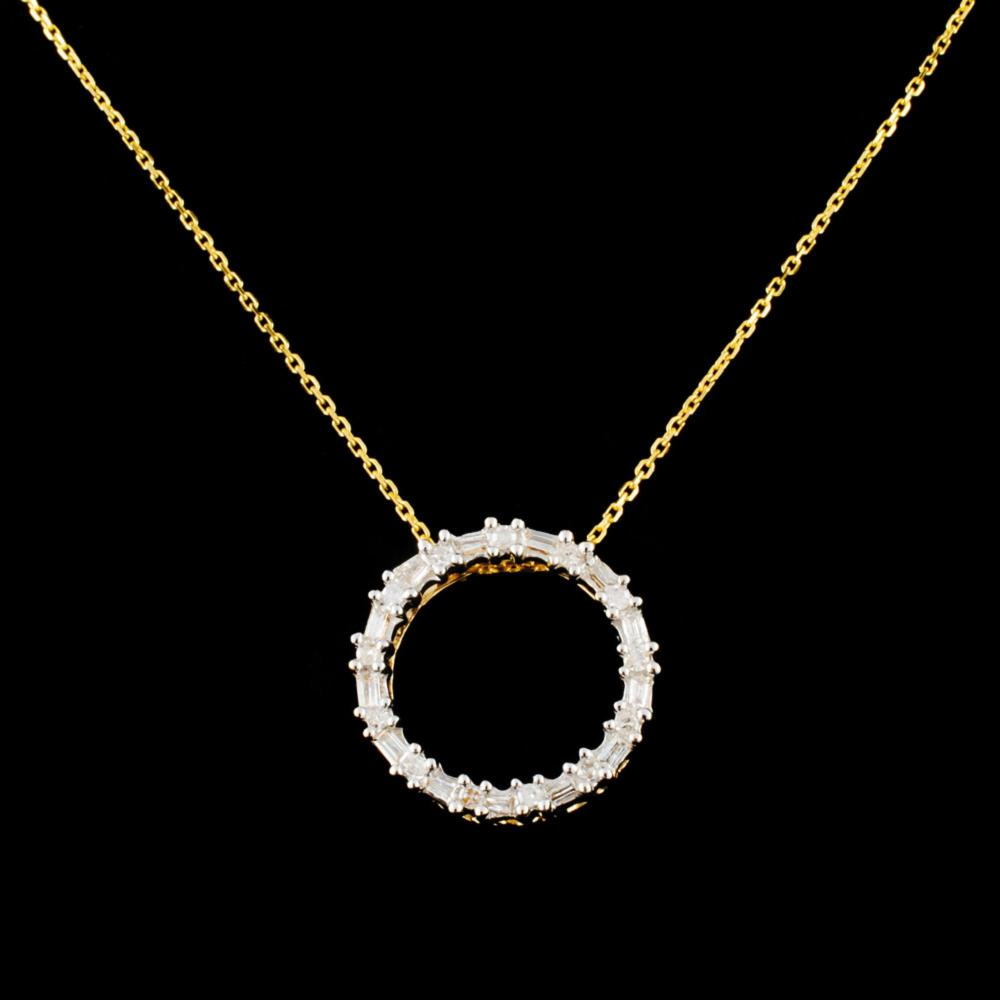 14K Gold 0.23ctw Diamond Pendant