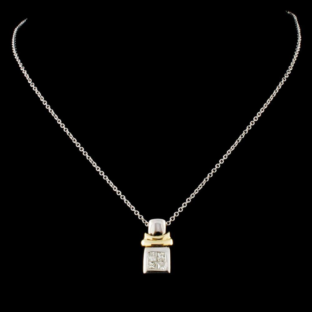 14K Gold 0.17ctw Diamond Pendant