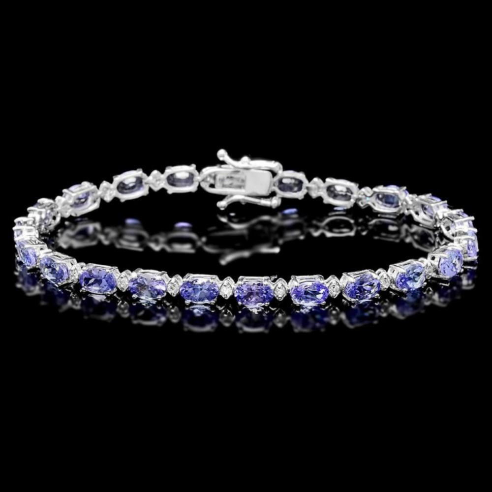 `14k Gold 10.00ct Tanzanite & 0.50ct Diamond Brace