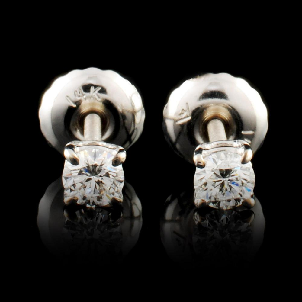14K Gold 0.19ctw Diamond Earrings