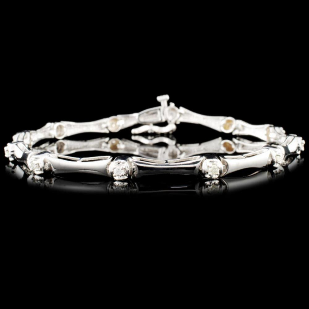 14K Gold 0.25ctw Diamond Bracelet