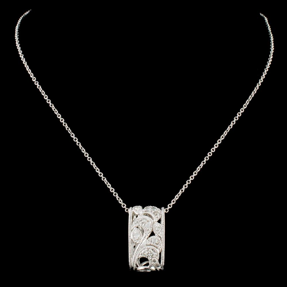 14K Gold 0.19ctw Diamond Pendant