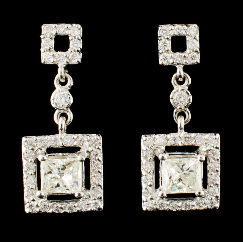 14K Gold 1.26ctw Diamond Earrings