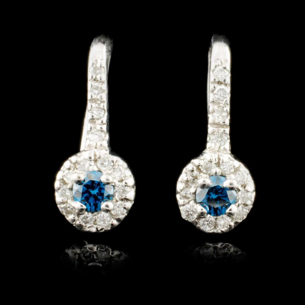 14K Gold 0.30ctw Fancy Color Diamond Earrings