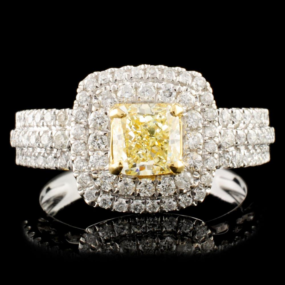 18K Gold 1.30ctw Fancy Diamond Ring