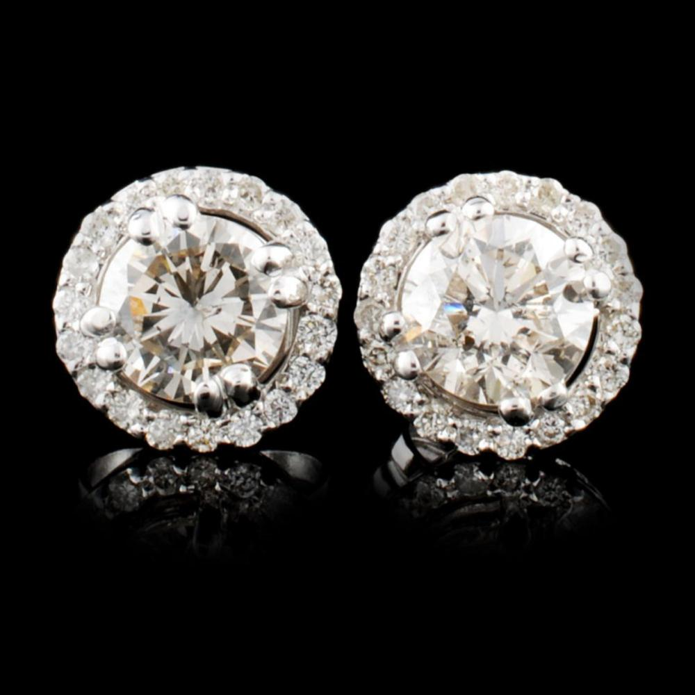 14K Gold 1.15ctw Diamond Earrings